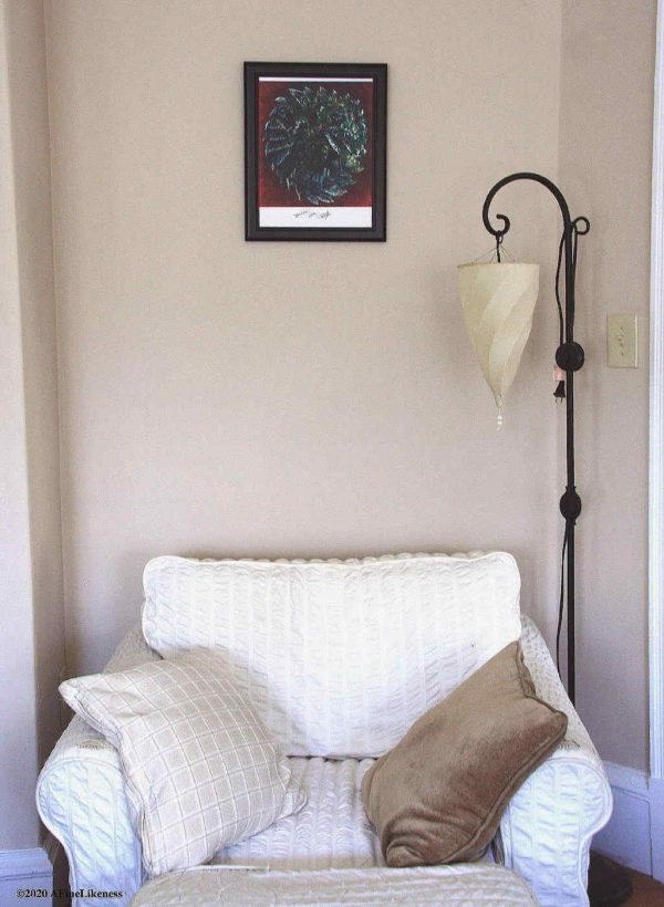 """'Ouroboros' size 11""""x 14"""" example of print displayed in a black frame. Original artwork by Lori Del Genis."""