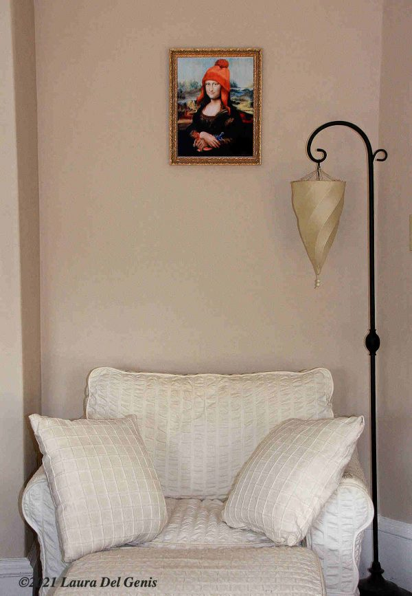 'Not Afraid of Anything' 11x14 print example framed in situ (Laura Del Genis, 2021)